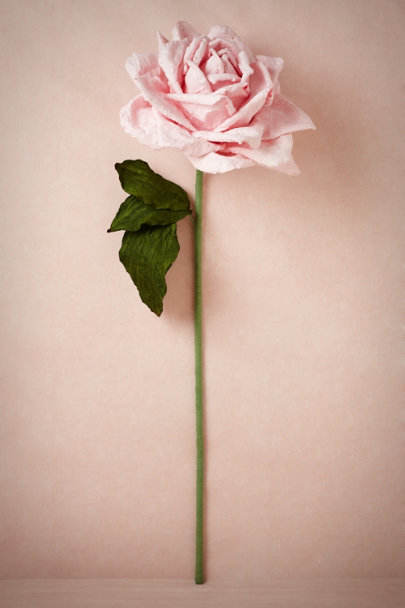 pink Larger-Than-Life Paper Rose | BHLDN