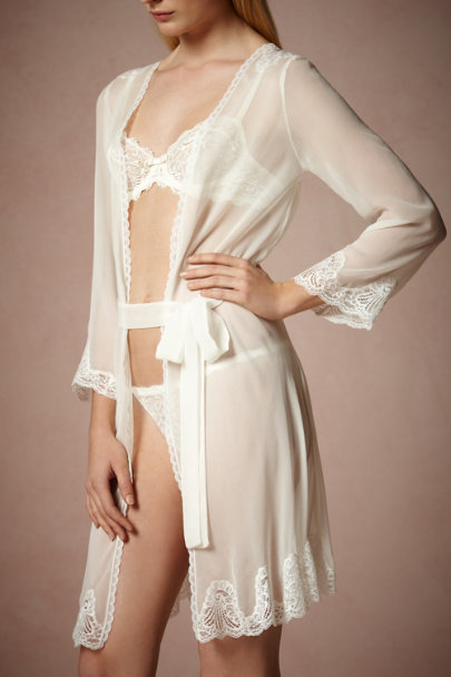 Ivory Angelic Insignia Robe | BHLDN