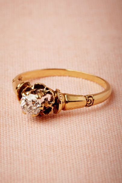 yellow gold Baxter Ring | BHLDN