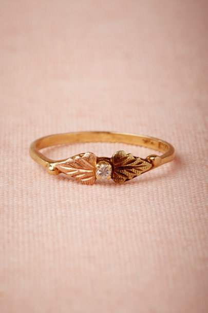 yellow gold Cordate Ring | BHLDN