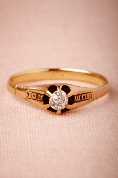 yellow gold Greenport Ring | BHLDN