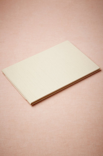 cream Shantung Guest Book | BHLDN