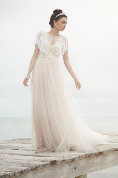 ivory Scattered Pearl Capelet | BHLDN