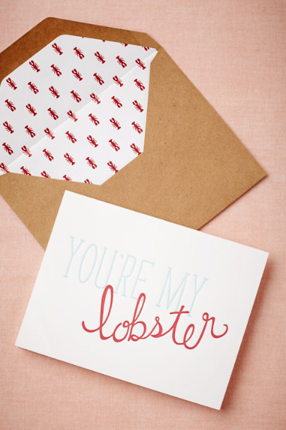 Sugar Paper red You're My Lobster Card | BHLDN