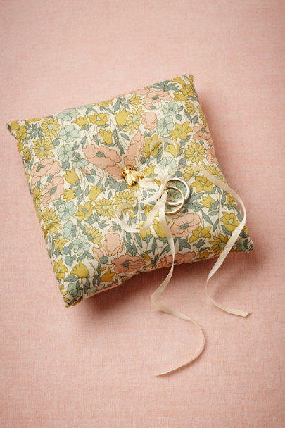 botanical motif Regent Ring Pillow | BHLDN