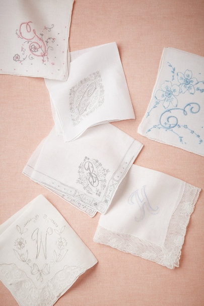 ivory Vintage Monogram Kerchief | BHLDN