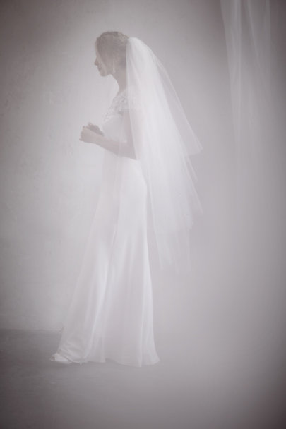Debra Moreland Ivory Crystal Cloudbreak Veil | BHLDN