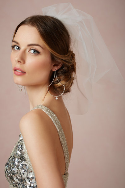 Debra Moreland diamond white Saturnia Double Blusher | BHLDN