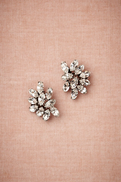 Ben-Amun Silver Marquee Crystal Earrings | BHLDN