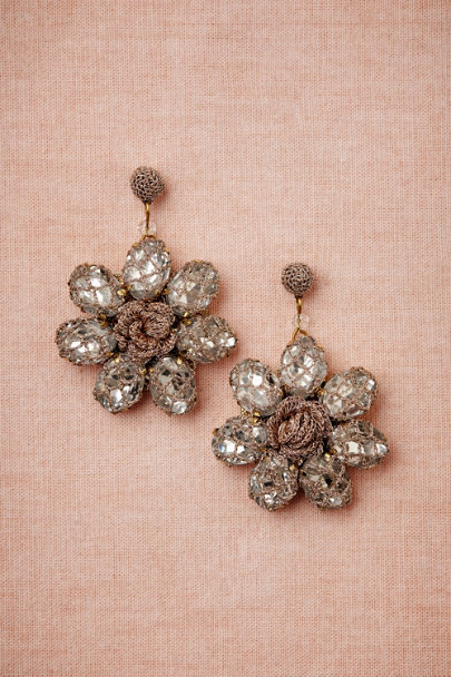 St. Erasmus crystal Malaga Earrings | BHLDN