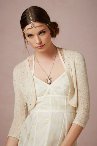 St. Erasmus crystal Clareta Necklace | BHLDN