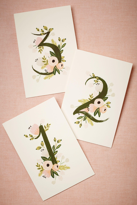 Floravine Table Numbers 5 in Sale BHLDN