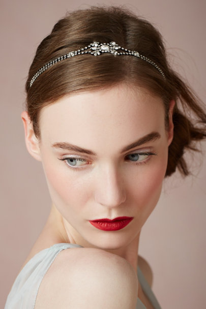 Jennifer Behr gunmetal Leola Head Wrap | BHLDN
