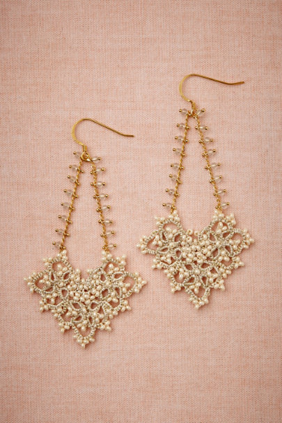 L'Orina ivory Margot Earrings | BHLDN