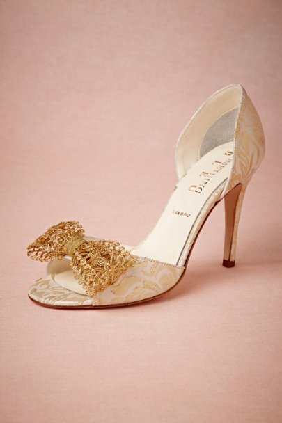 gold Andalusia d'Orsay Heels | BHLDN