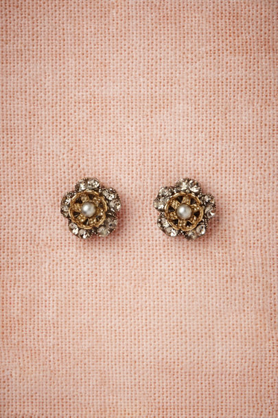Eric et Lydie silver Dewberry Earrings | BHLDN