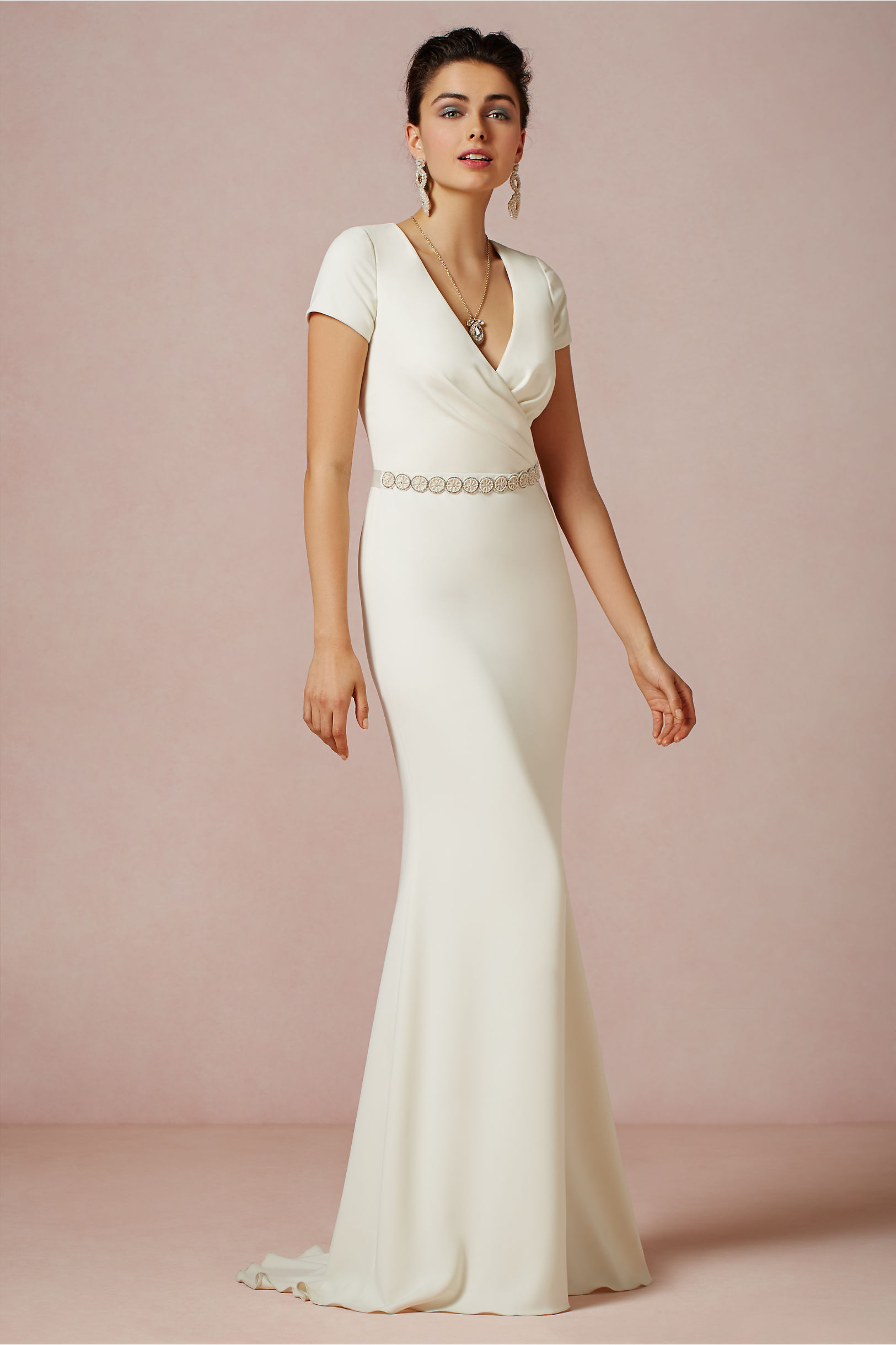 Badgley Mischka Ivory Isis Gown Bhldn