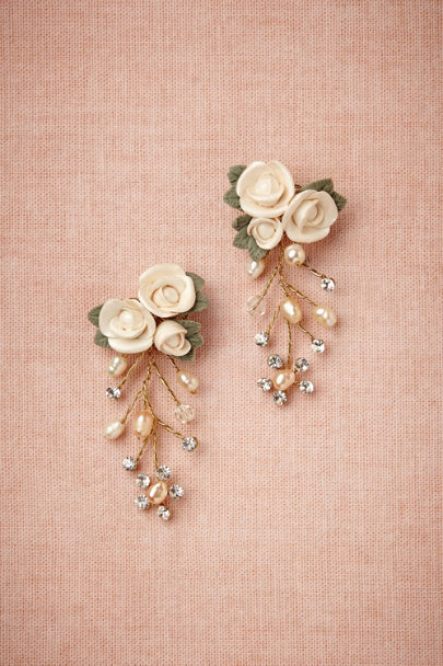 rose Damasco Earrings | BHLDN