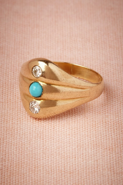 yellow gold Hasina Ring | BHLDN