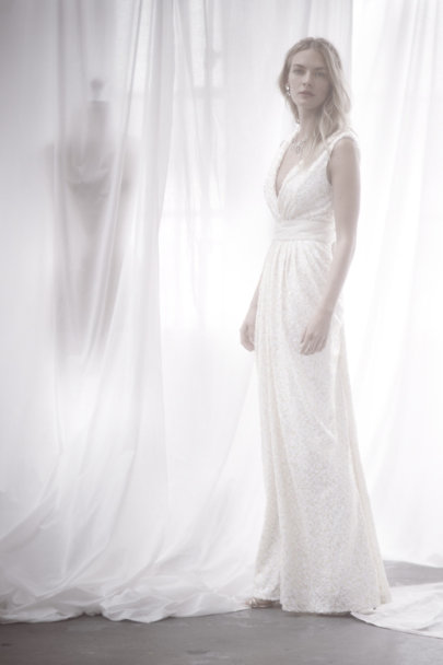 Badgley Mischka ivory Bette Gown | BHLDN