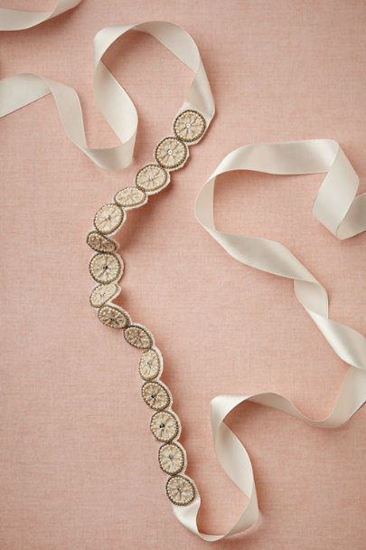 ivory Crystalina Sash | BHLDN