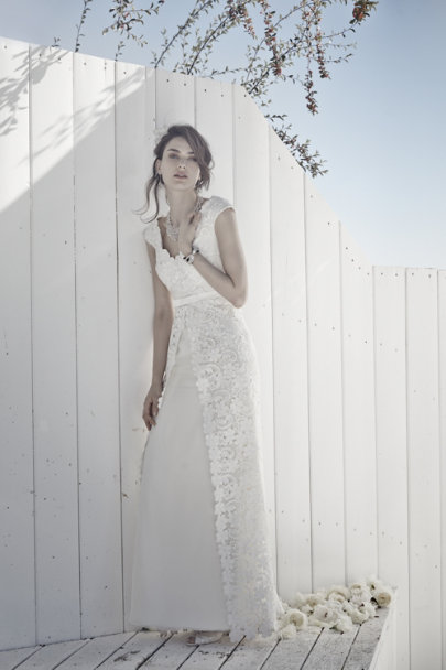 Collette Dinnigan ivory Blythe Gown | BHLDN