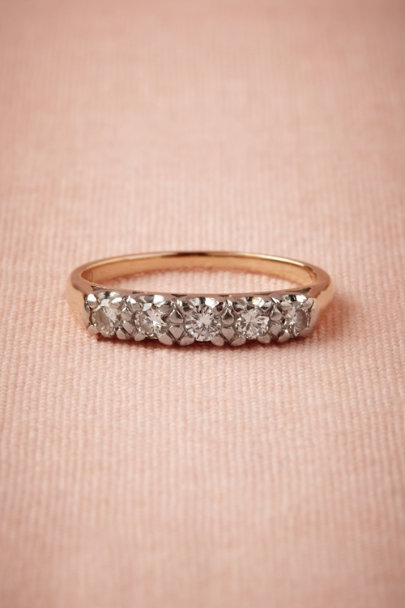 yellow gold Heirloom Diamond Band | BHLDN