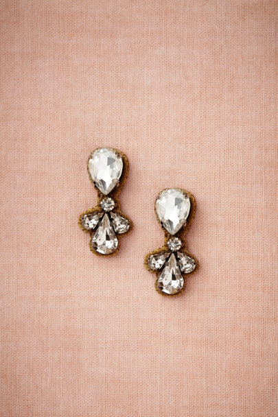 clear Starbright Earrings | BHLDN