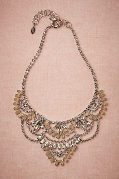 Elizabeth Cole nude Glimmered Geometry Necklace | BHLDN