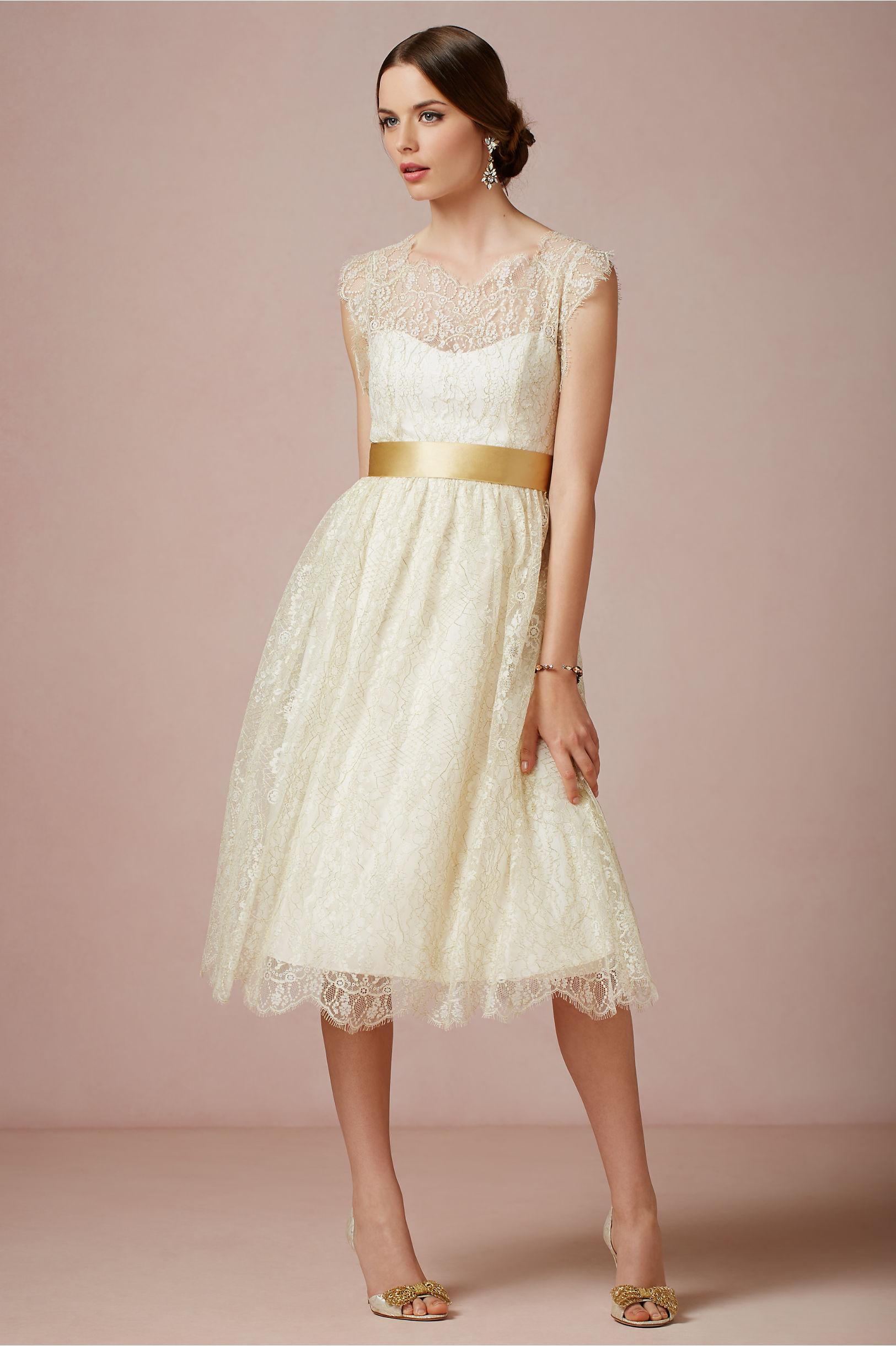 Queen Anne Dress In Bride Bhldn