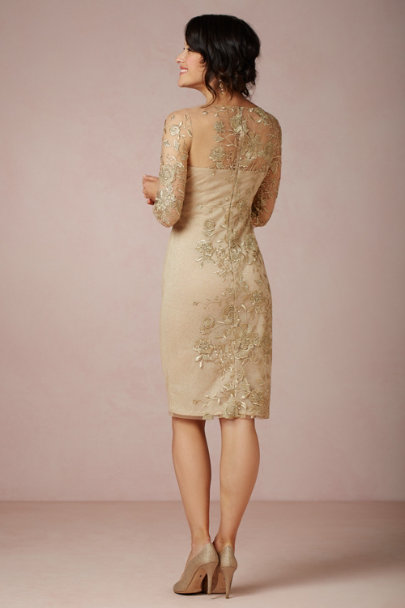 gold Altissimo Sheath | BHLDN
