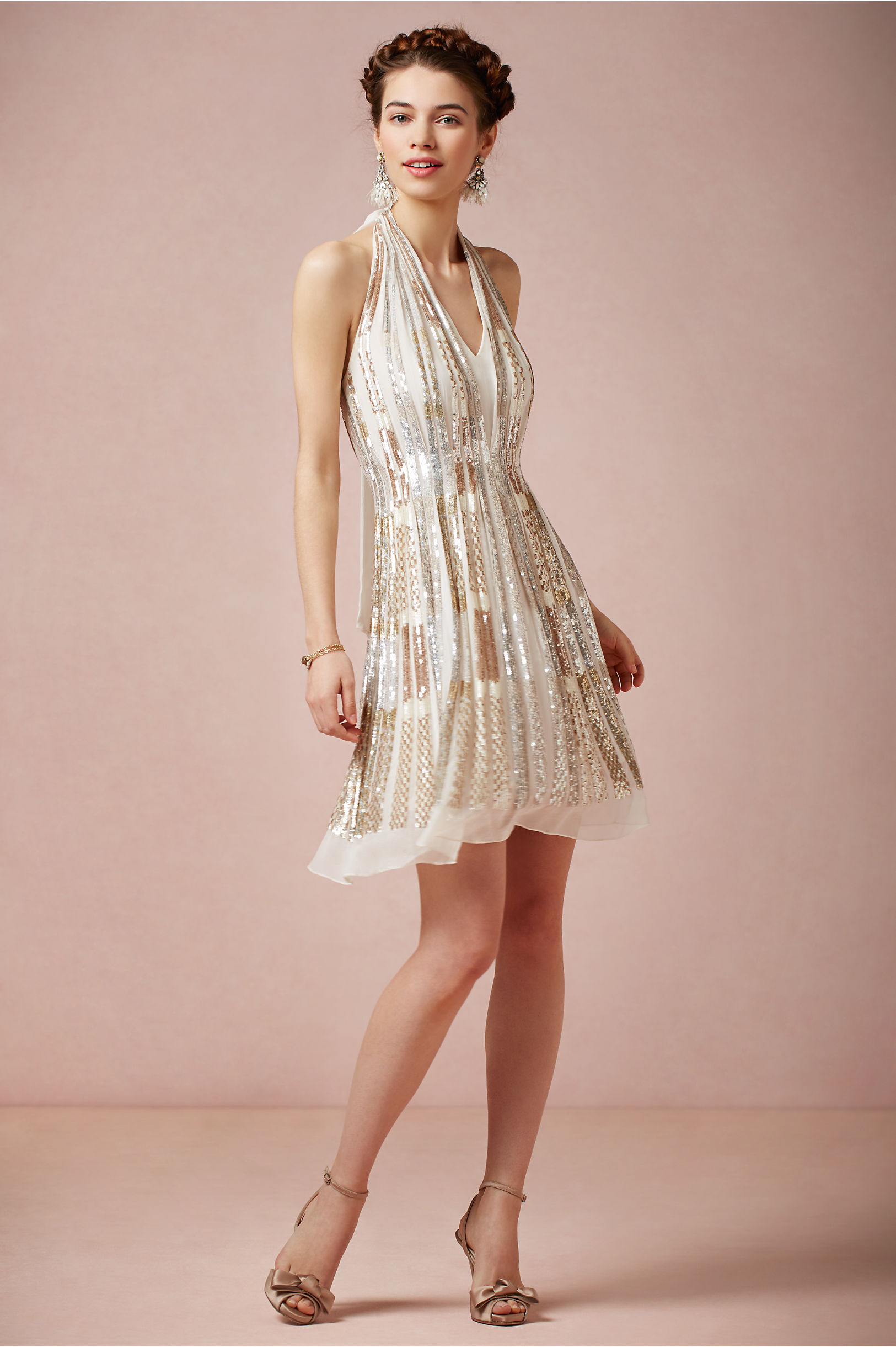 Twila Halter Dress In Occasion Dresses Bhldn