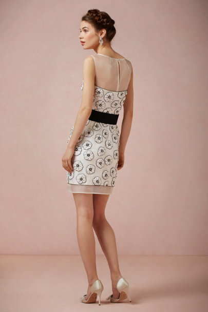 Milly black/ivory Sparked Daisy Dress | BHLDN