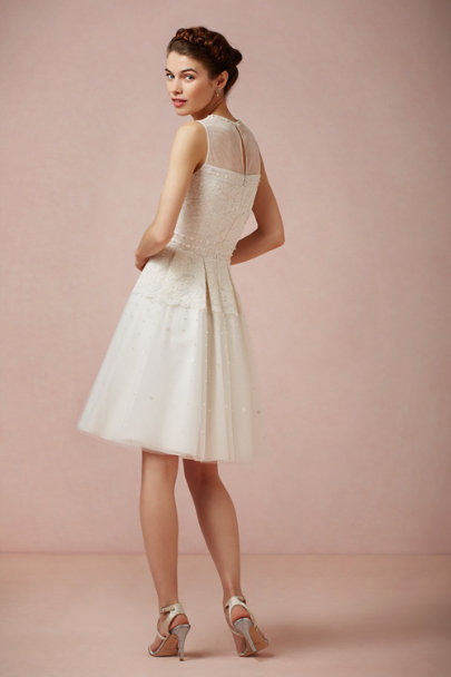 ivory Pinpearl Dress | BHLDN