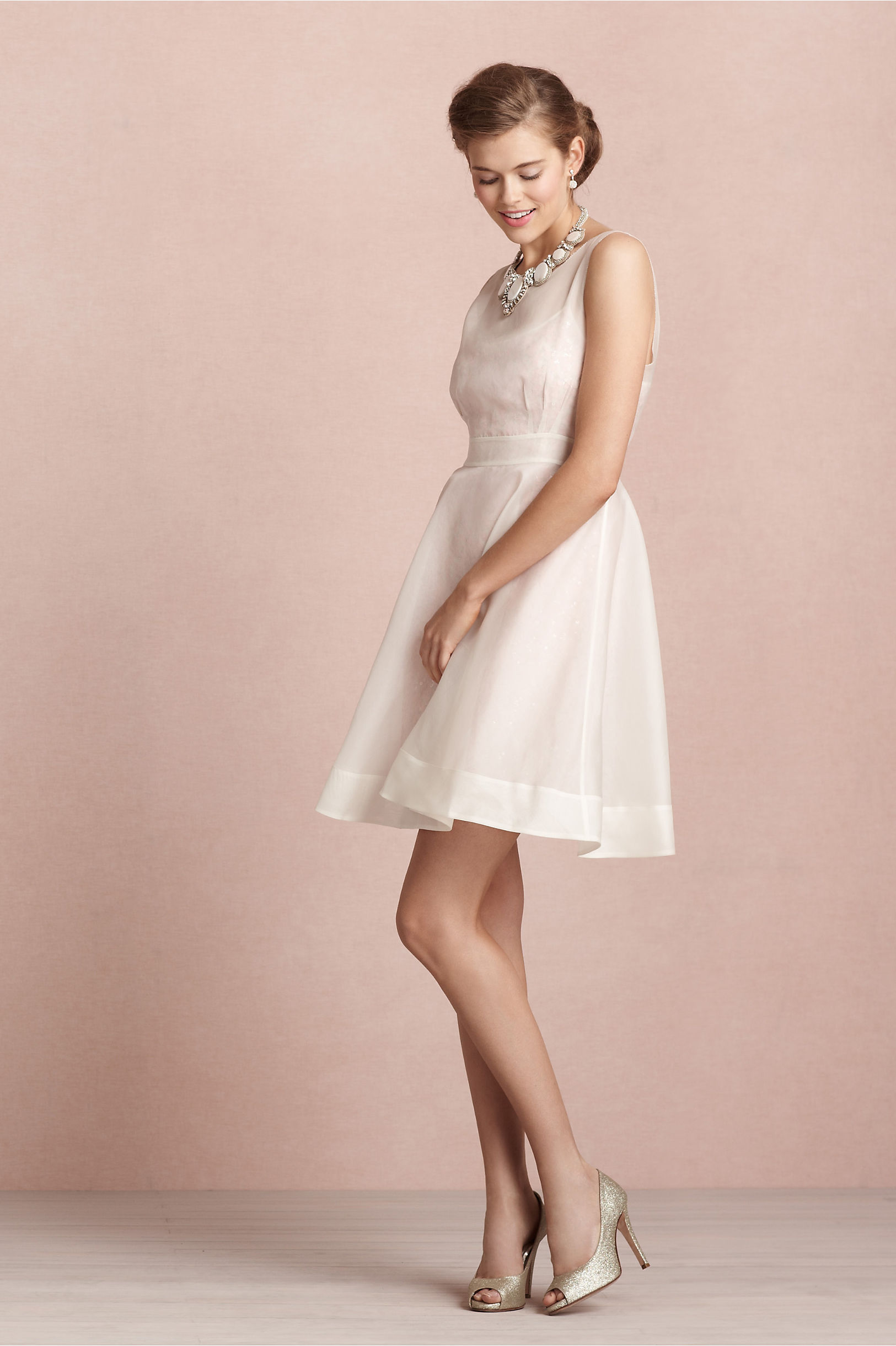 Parchment Sequin Stash Dress Bhldn