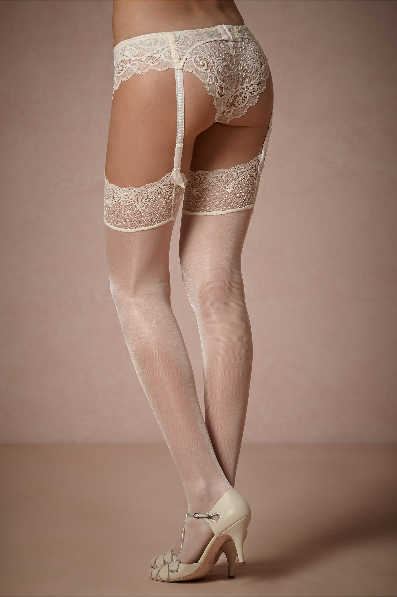 5a1487a9a Falke Off White Shimmering Thigh Highs