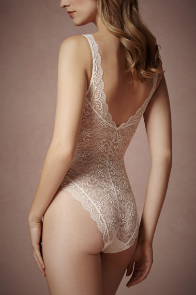 ivory Bienvenue Bodysuit | BHLDN