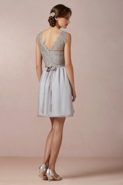 McGinn mist grey Claudine Dress | BHLDN