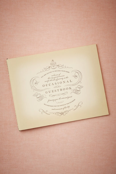 cream Occasional Guestbook | BHLDN