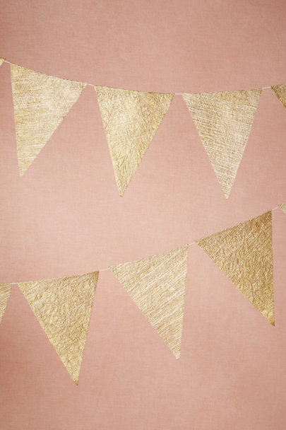 Gold Golden Age Pennants (3) | BHLDN