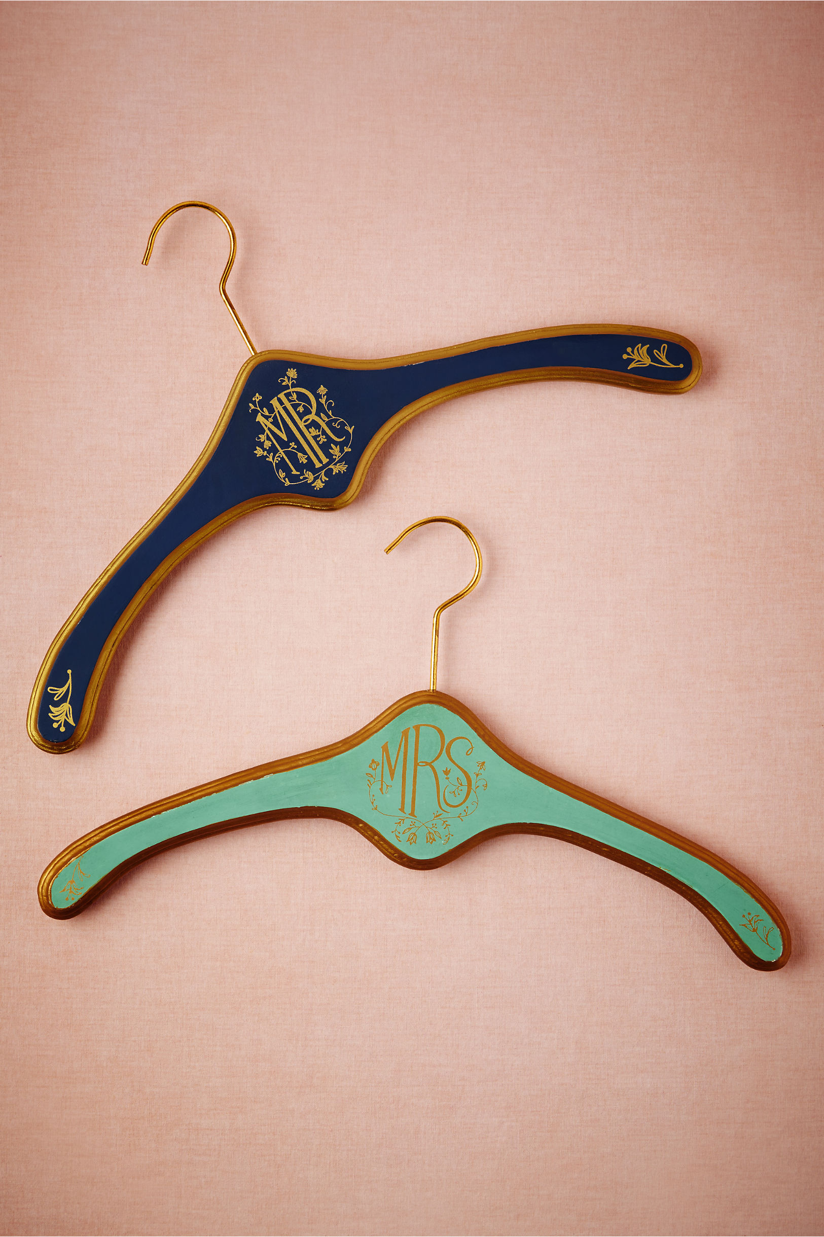 navy mr Heirloom Hangers Mr & Mrs