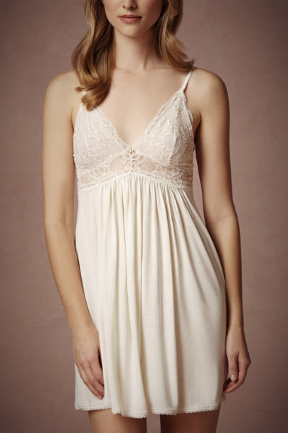 ivory/gold Ethereal Chemise | BHLDN