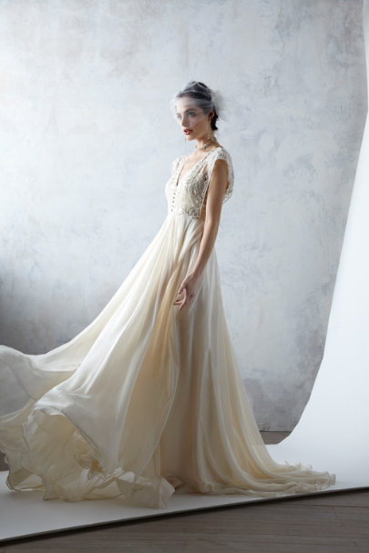 Catherine Deane bisque Thea Gown | BHLDN