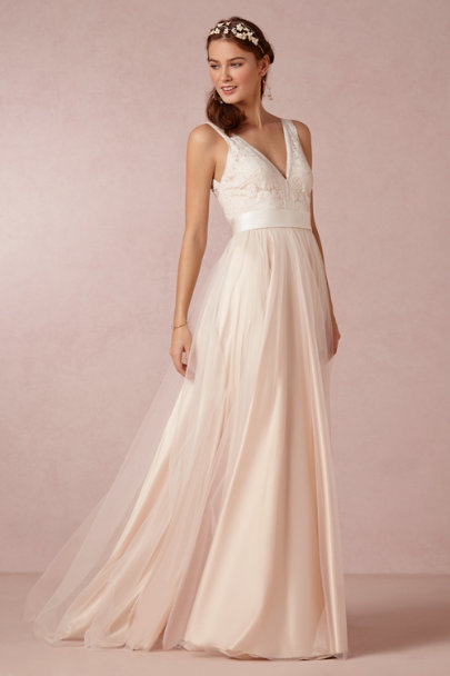 Catherine Deane blush Tamsin Gown | BHLDN