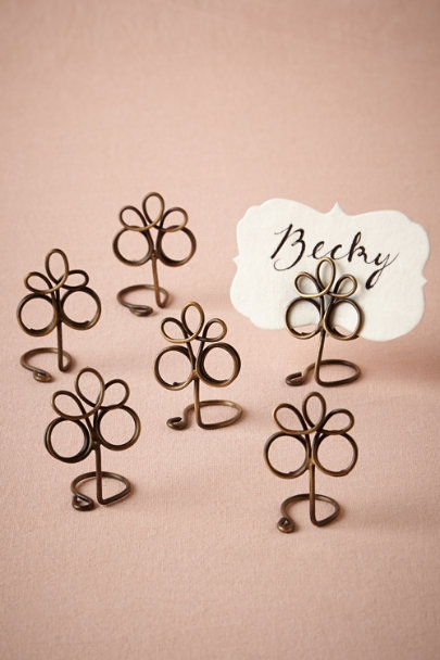 antique brass Fleur de Lys Holders (6) | BHLDN