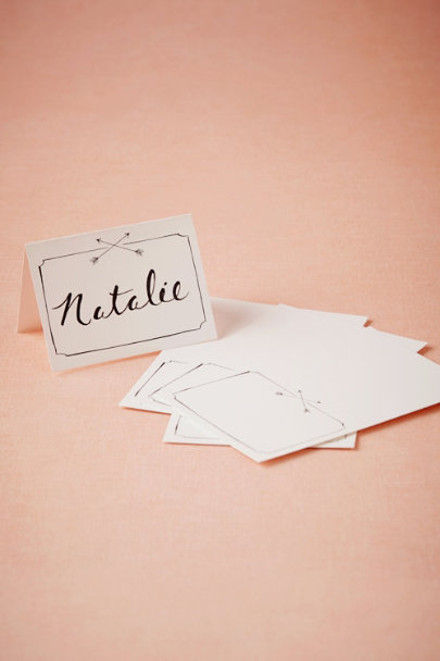 black & white Arrow Place Cards (10) | BHLDN