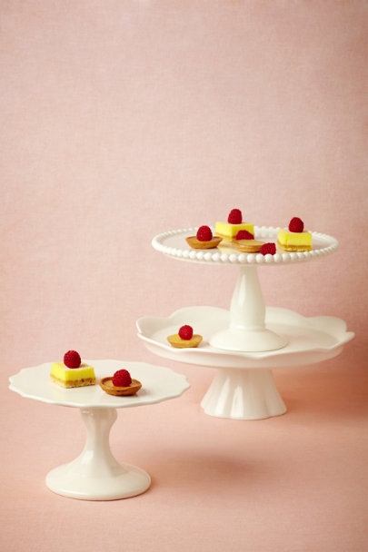 white Revelry Cake Stands | BHLDN