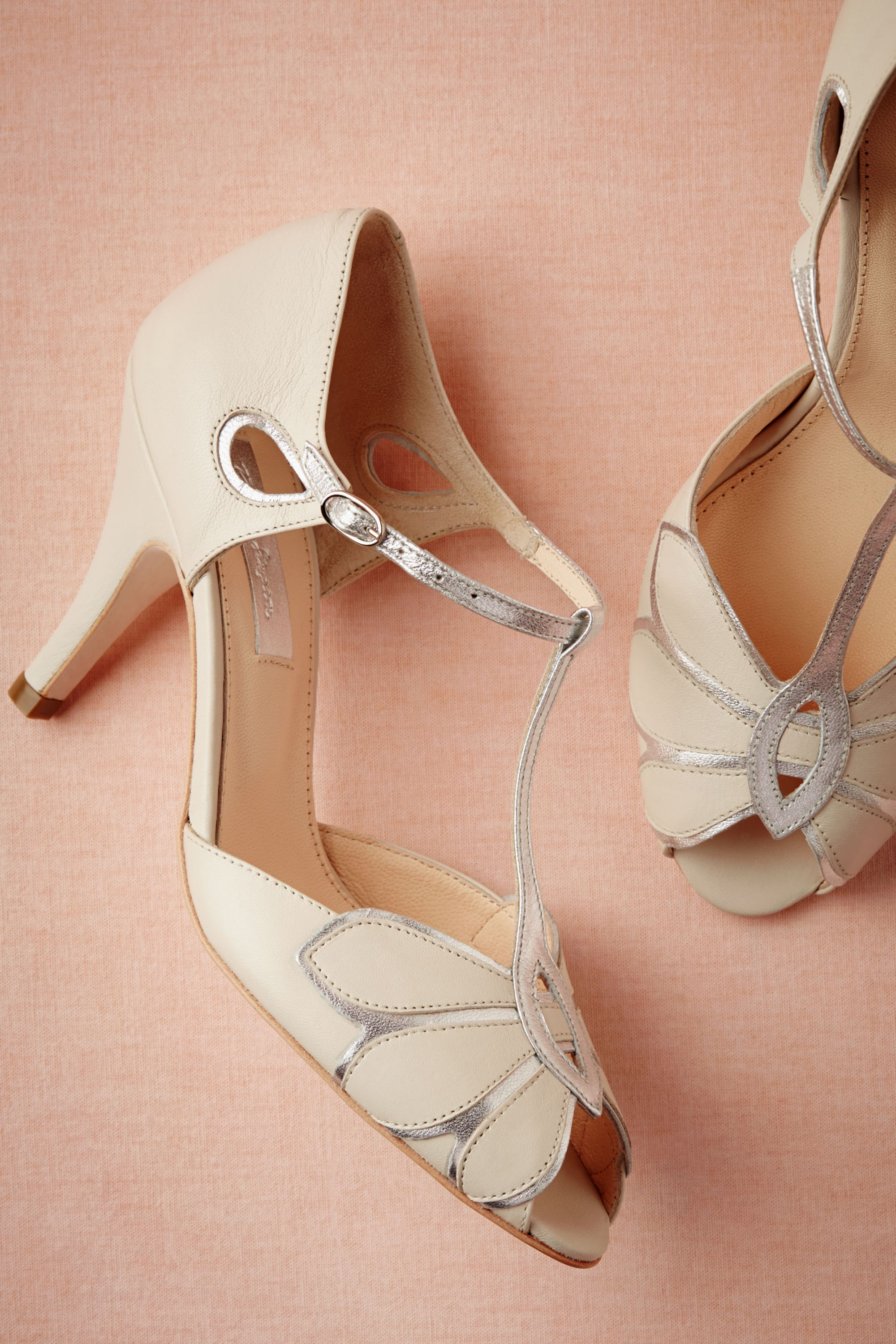 b9d0b335a9f Rachel Simpson Mimosa T-Strap Heels ivory in Shoes   Accessories