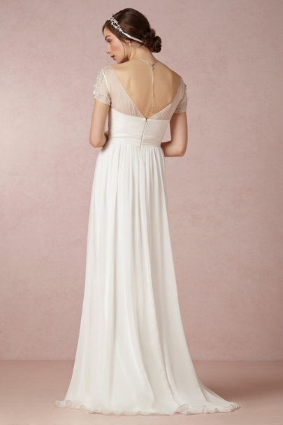 Badgley Mischka ivory Elisa Gown | BHLDN