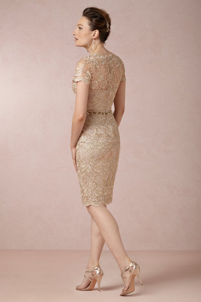 gold Golden Light Dress | BHLDN